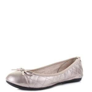 Womens-Butterfly-Twists-Olivia-Rose-Gold-Flat-Ballet-Pumps-Size