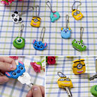 Cartoon Animal Silicone Key Caps Covers Keychain Case Shell Topper Phone Strap