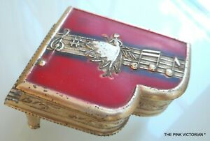 Details about VINTAGE OCCUPIED JAPAN SILVER PLATED PIANO JEWELRY TRINKET  BOX, DANCER, SINGER