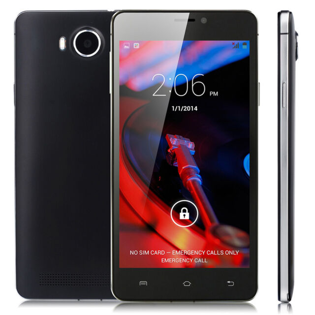 """Unlocked 5"""" Dual Sim WiFi 3G GSM Android 4.4 Dual Core Mobile Smart Cell Phone"""