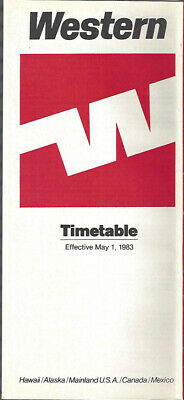 Delta Air Lines system timetable 5//1//83 Buy 2 Get 1 Free 308DL