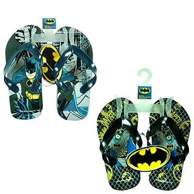Flip Flops Beach Sandal Nickelodeon DC Hero Batman Child Kid Sizes Boy 5-8 NEW