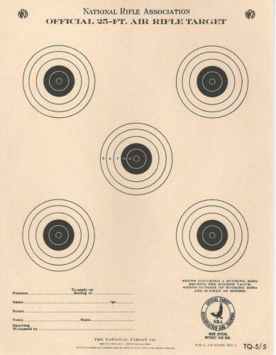 aka A-19 TQ-5//5 NRA Official 25 Foot Air Rifle Target 100 pack