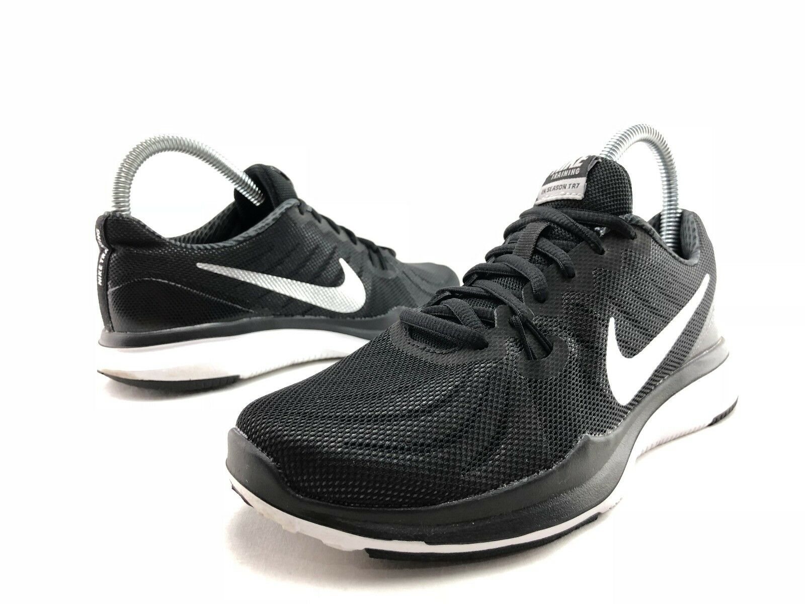 Nike In Season TR 7 Women's Black Silver Athletic Run Training Shoes US 7 C225