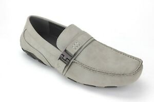 Kenneth-Cole-Reaction-Mens-Toast-2-Me-Suede-Chukkas-Drivers-Light-Gray-8-5M