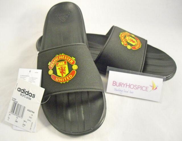 c92055798178 adidas Manchester United Slide Mens Flip Flop Sandal Black Aq3794 10 UK 10  for sale online