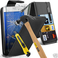 Top Flip Quality Leather Phone Case Cover✔Glass Screen Protector for Sony
