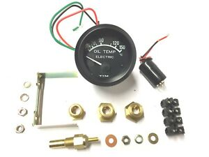 Tim 52mm 12V Electric Oil Temp Gauge KIT with Sender + Various Fittings (700014)