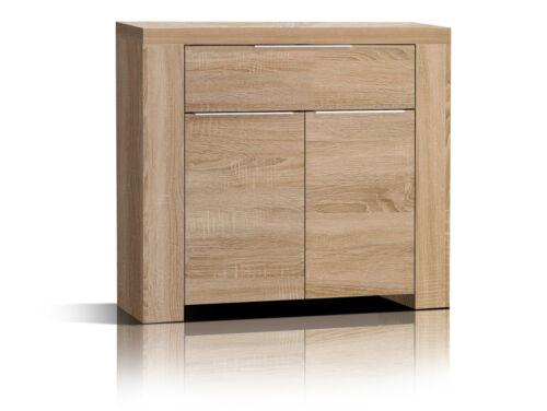 Kommode CAMILLO mit 2 Türen 1 Schublade Eiche Sonoma Dekor Schrank für Büro