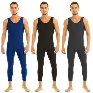 Mens-Adult-One-Piece-Stretch-Bodywear-Jumpsuit-Underwear-Tights-Leotard-Unitard