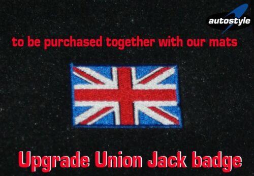 Upgrade UNION JACK Embroidered Badge AUTOSTYLE® Luxury Tailored Car Mats
