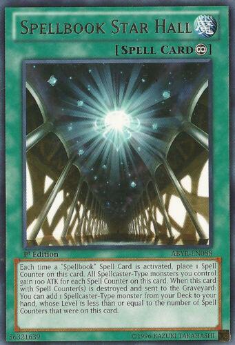 ABYR-EN088 1st Edition x3 Spellbook Star Hall Near Mint Rare