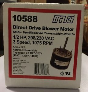 mars 1 2hp 208 230v 1075rpm blower motor 10588 685744105886 ebay rh ebay com mars 10588 blower motor wiring diagram