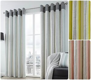 Fusion-RYDELL-Vertically-Striped-with-Grey-Header-Eyelet-Ring-Curtains