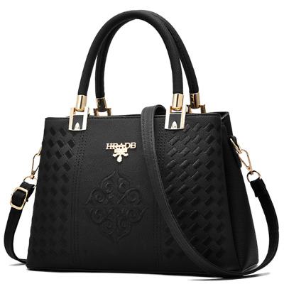 Ladies Black Pocketbook Handbag Fashion Leather Purse Womens Shoulder Tote Bag