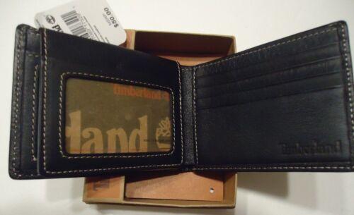 Timberland Genuine Leather Billfold Black MSRP $50