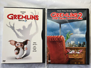 Gremlins-1-amp-2-The-New-Batch-DVDs-Lot-of-2-in-Snap-Cases