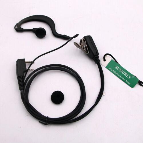 For Kenwood Radio Clip-Ear Earpiece//Headset PTT TK3402 NX420 NX240v NX340u US