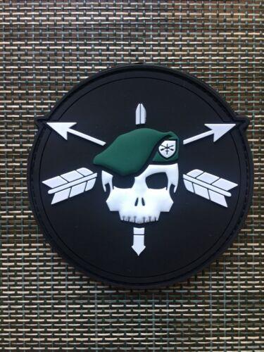 Green Beret Skull Patch