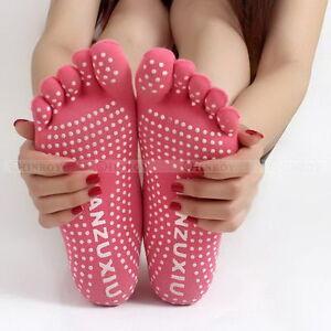 Men-Women-Sport-Yoga-5-Toes-Socks-Exercise-Massage-Cotton-Pilates-Anti-slip-Sock