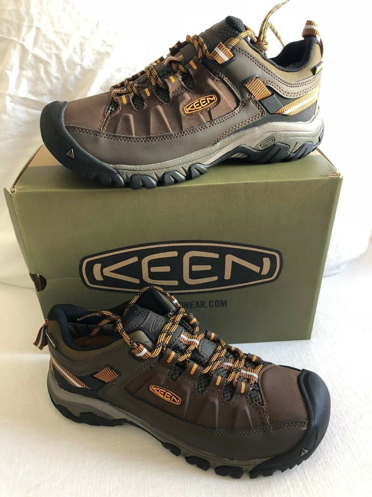 Keen Targhee EXP WP Cascada Inca oro Bota para Excursionista Para Hombre Tallas 7-17    nuevo