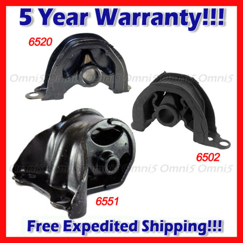 A235 Fits 1992-1993 Honda Civic 1.5L CX DX LX Motor /& Trans Mount 3PC AUTO Trans