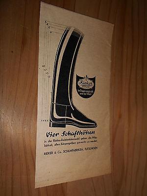 original Werbung Reklame Annonce Rieker Schuhe Stiefel mG13S