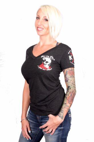 Liberty or Death Women/'s Deep V-Neck T-shirt I Knives Out I Flag I Patriot