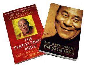 Dalai-Lama-2-Books-An-Open-Heart-The-Transformed-Mind-Paperback-Mindfulness-New