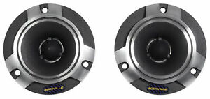"Pair Rockville RT5 2"" Aluminum Car/Pro Tweeters w Titanium Diaphragm+Kapton VC"