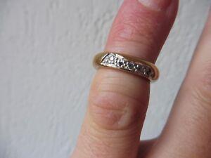 schoner-alter-Ring-925-Silber-vergoldet-mit-kleinen-Steinen