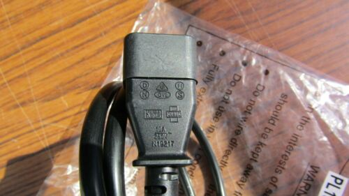 1 Metre IEC MAINS LEAD 1M IEC Plug to IEC socket Power Lead Extension PL13326