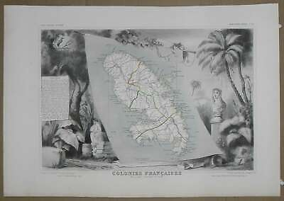 Art Colonies Französische Martinique Curing Cough And Facilitating Expectoration And Relieving Hoarseness Loyal Gravur Karten Alte Atlas Levasseur 1850