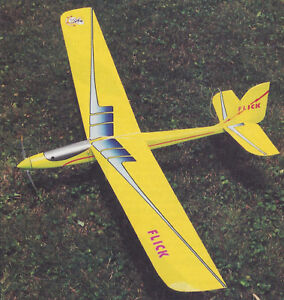 Details about Flick Motor Glider Electric Powered Sailplane  Plans,Templates, Instructions 59ws