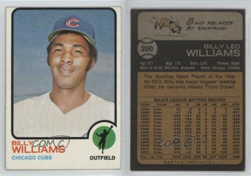 1973 Topps #200 Billy Williams Chicago Cubs Baseball Card