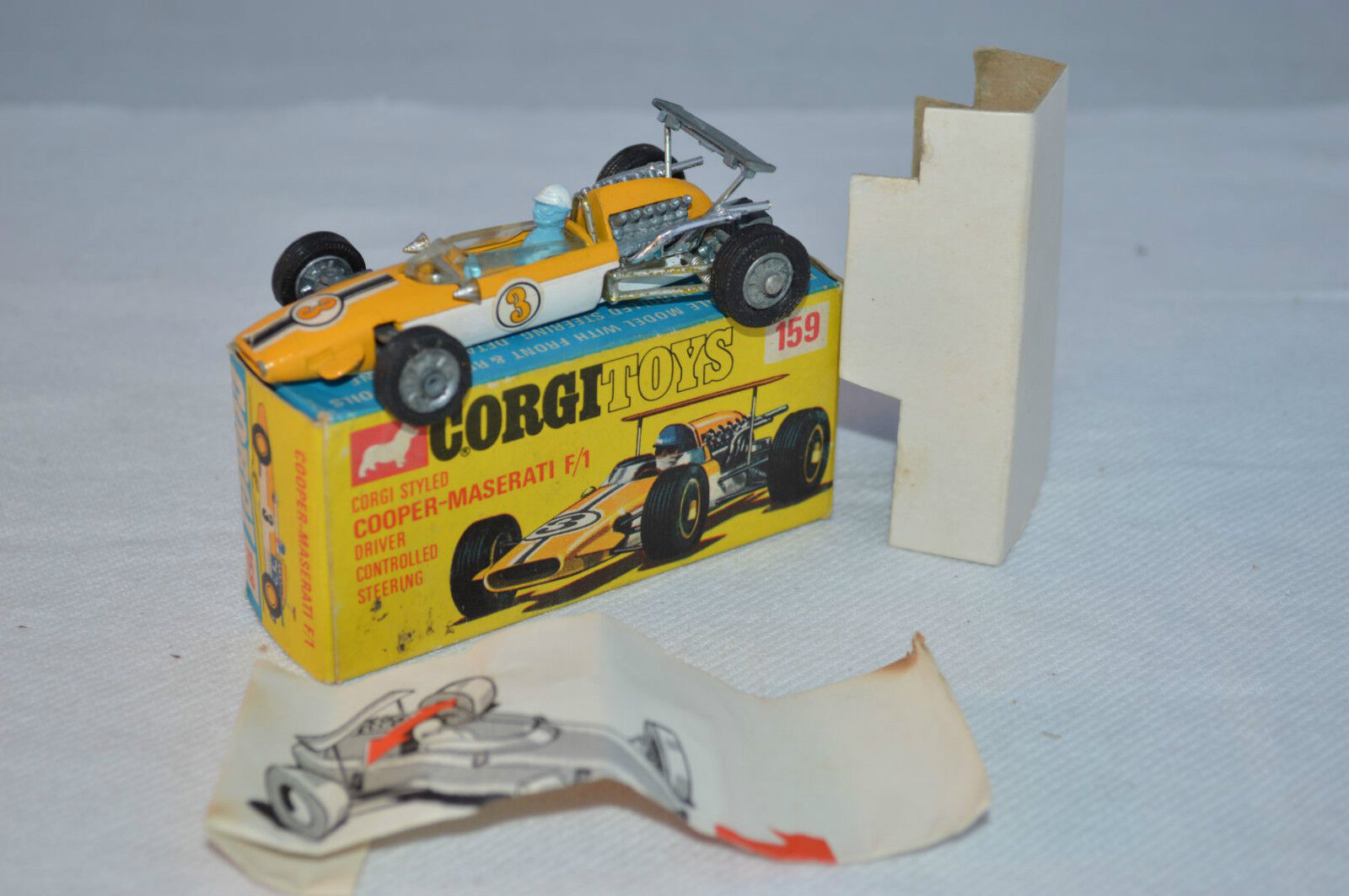 Corgi Toys 159 Cooper Maserati F 1 very very near mint in complete box a beauty