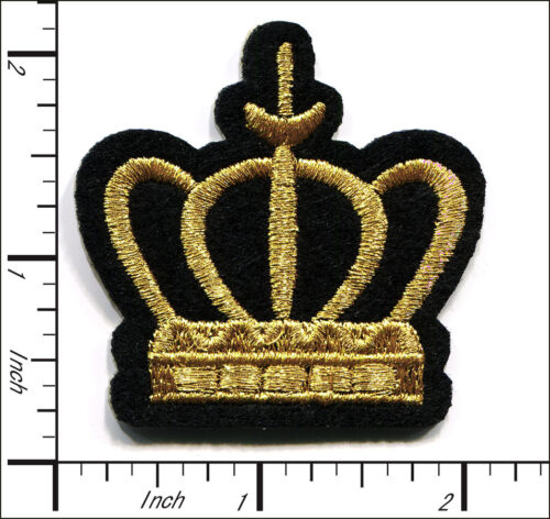 """30 Pcs Embroidered Sew or Iron on patch Imperial Crown 1.96/""""x1.96/"""" AP038hA"""
