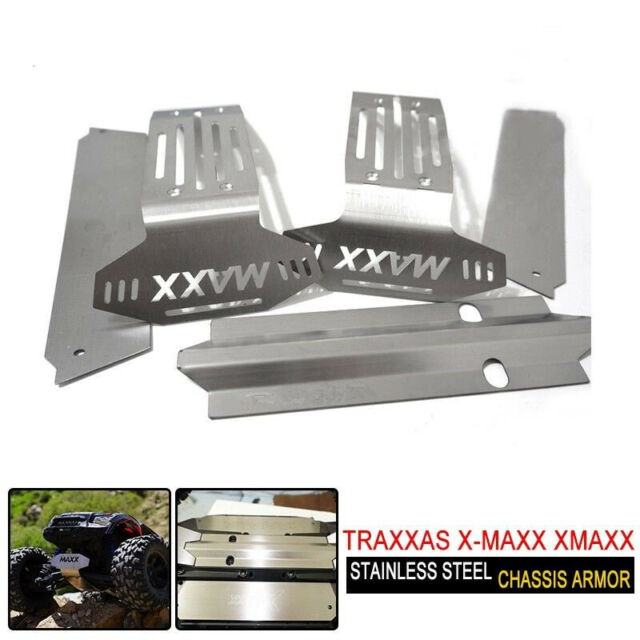 Integy Traxxas X-Maxx Stainless Steel Side Protection Skid Plate Kit 1//5 Scale