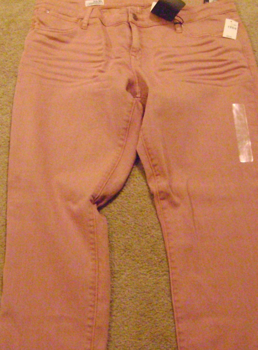 NWT WOMENS GAP 1969 ALWAYS SKINNY SKIMMER JEANS-SIZE 33 16R-pink PINK