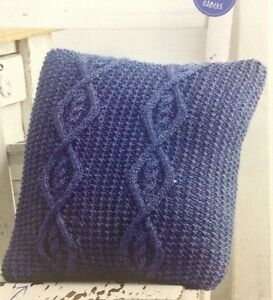 Cable Cushion Cover Aran KNITTING PATTERN - To Fit 40cm Square Cushion eBay
