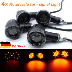 4x-8mm-Universal-Motorrad-Quad-Roller-ATV-Mini-Blinker-Bremslicht-12-LEDs-Bullet