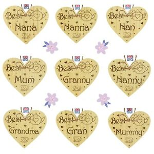 Wooden Heart Mum Mother Grandma Glam-Ma Gift Sign Plaques