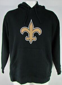 pretty nice a4752 2549a Details about New Orleans Saints NFL Fanatics Men's Black #9 Drew Brees  Pullover Hoodie