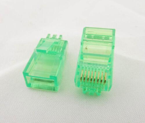 50x RJ45 Network Cable Modular Plug Ethernet CAT5 8P8C Connector End Multi-color