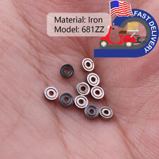 100x 681zz Mini Miniature Ball Bearings 131mm Metal Steel Sealed For Toy Model