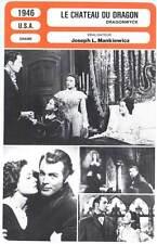 LE CHATEAU DU DRAGON - Tierney,Price,Mankiewicz (Fiche Cinéma) 1946 - Dragonwyck