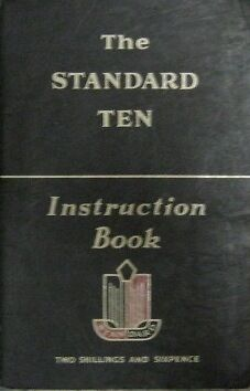 * Standard Ten Instruction Book - Manual 1954 / 55 - English - Original * Met De Nieuwste Apparatuur En Technieken
