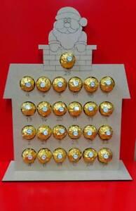 Ferrero Ou Lindt Santa Chocolat Advent Mdf Version également En Chêne Sans Peinture Version-afficher Le Titre D'origine Pas De Frais à Tout Prix