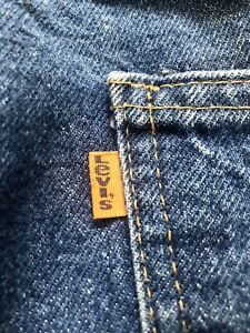Vintage-Levis-684-36-x-30-Jeans-Excellent-Condition-Bellbottom-70s-Hippie-Orange