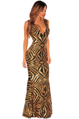 M Cerimonia Sequins Gown Lungo Dress Nudo Ballo Aderente Abito Ricamato Party EdoWBQrCxe